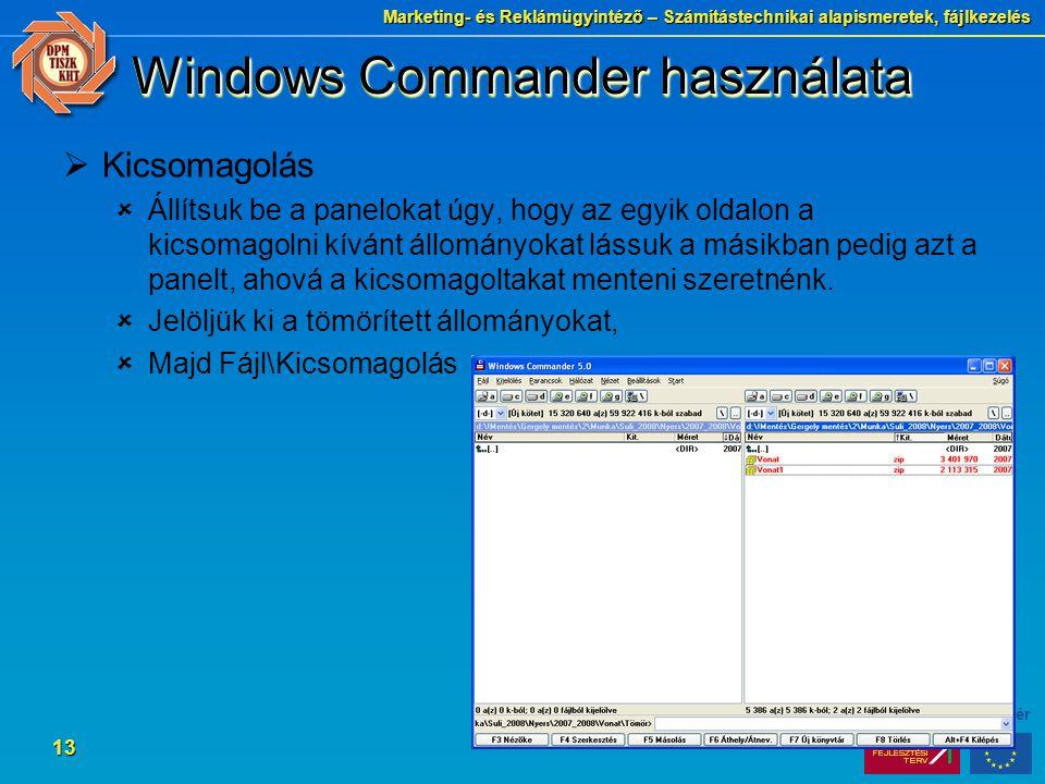 Windows Commander használata