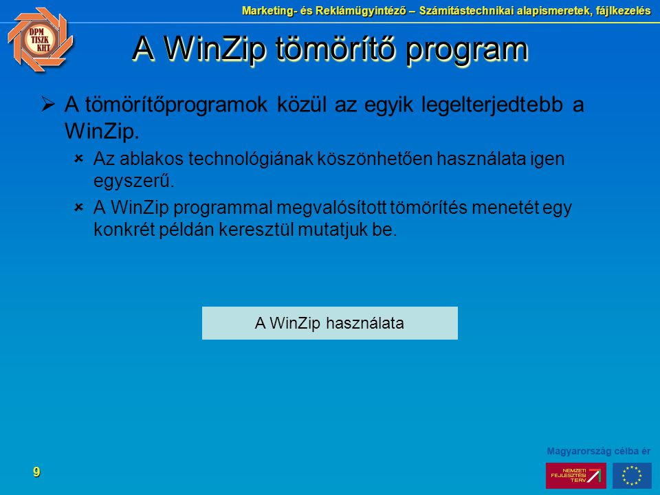 A WinZip tömörítő program