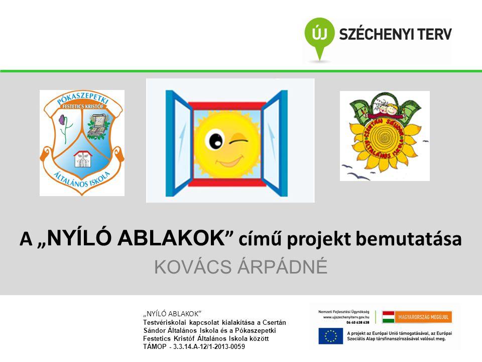 """A """"NYÍLÓ ABLAKOK című projekt bemutatása KOVÁCS ÁRPÁDNÉ"""