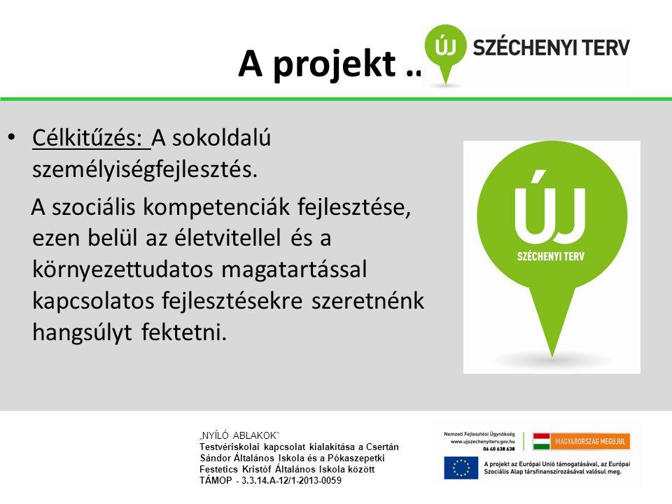 A projekt … Célkitűzés: A sokoldalú személyiségfejlesztés.