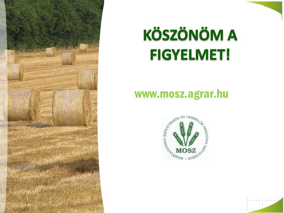 Köszönöm a figyelmet! www.mosz.agrar.hu
