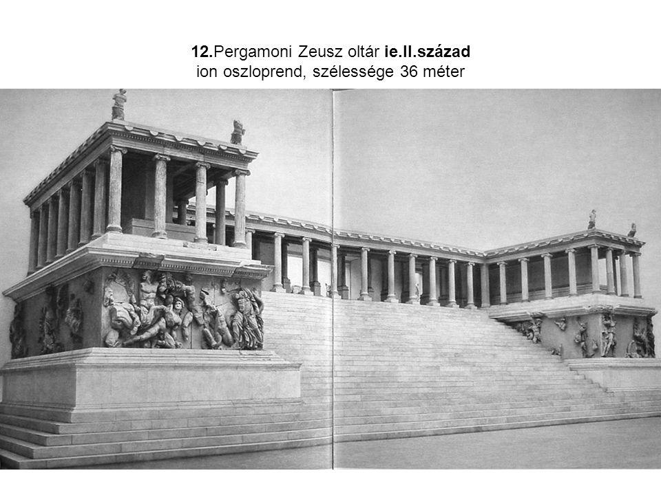 12. Pergamoni Zeusz oltár ie. II