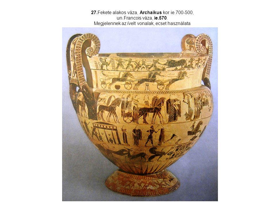 27. Fekete alakos váza, Archaikus kor ie. 700-500, un