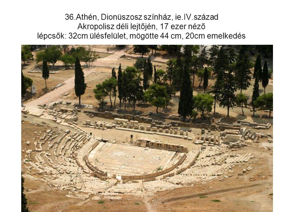36. Athén, Dionüszosz színház, ie. IV