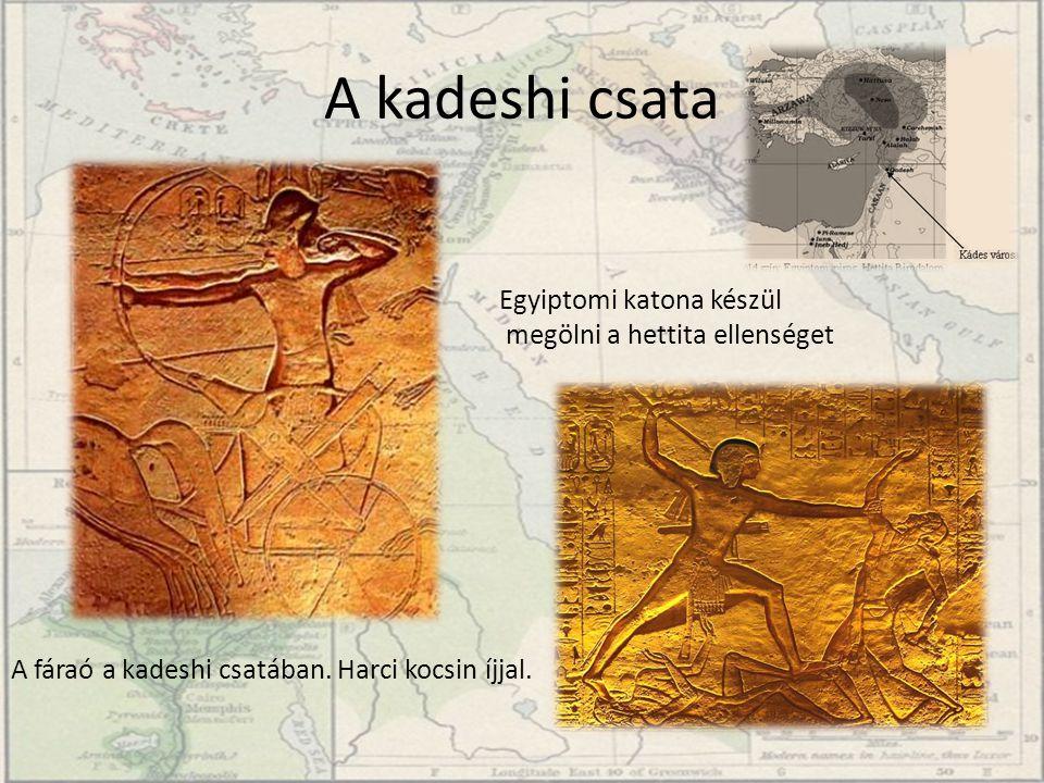 A kadeshi csata Egyiptomi katona készül megölni a hettita ellenséget
