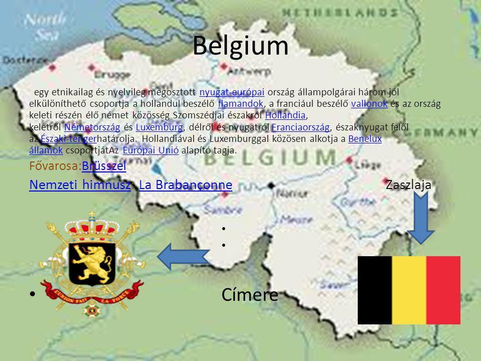 Belgium Címere Nemzeti himnusz: La Brabançonne Zaszlaja