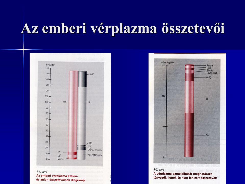 Az emberi vérplazma összetevői