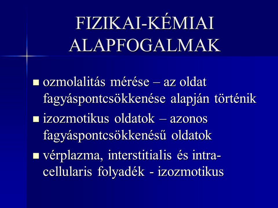 FIZIKAI-KÉMIAI ALAPFOGALMAK