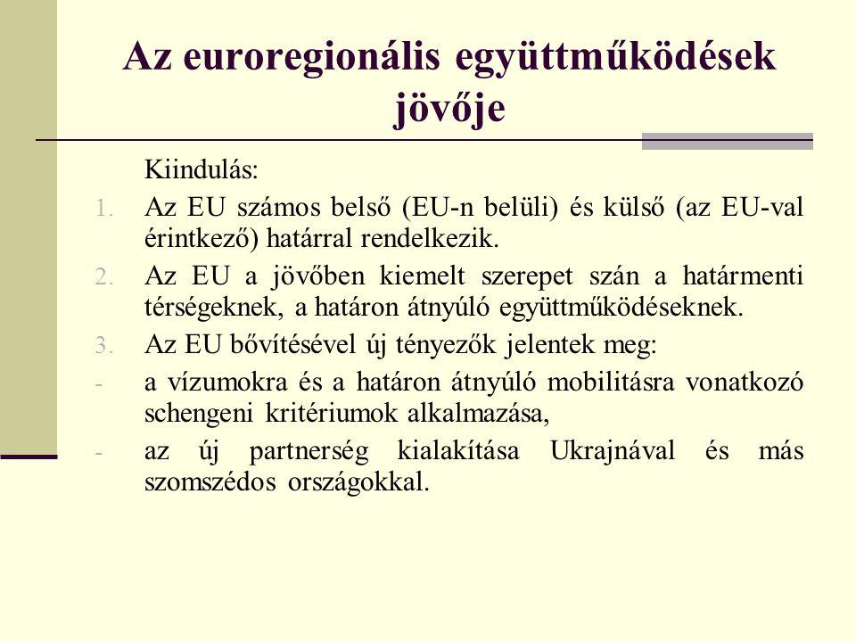 Az euroregionális együttműködések jövője