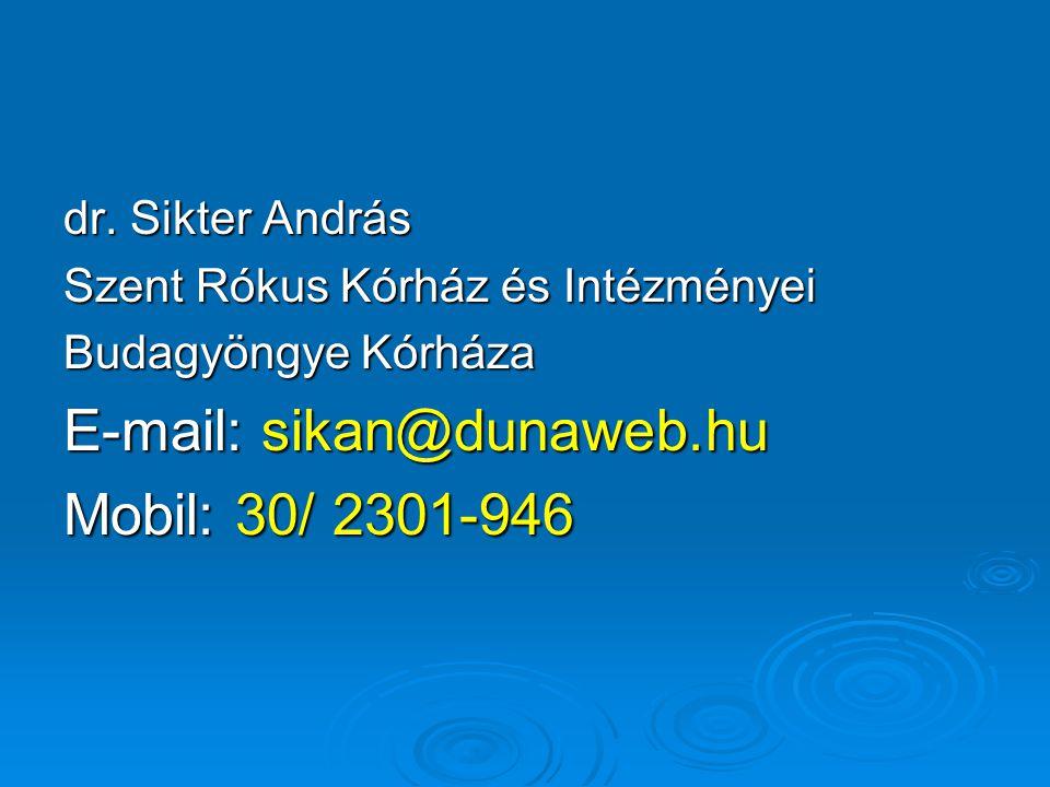 E-mail: sikan@dunaweb.hu Mobil: 30/ 2301-946