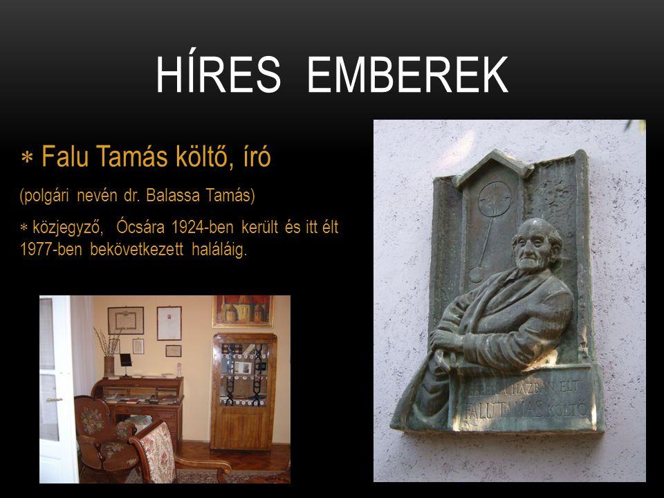 Híres emberek Falu Tamás költő, író (polgári nevén dr. Balassa Tamás)