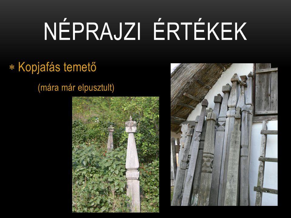 Kopjafás temető (mára már elpusztult)