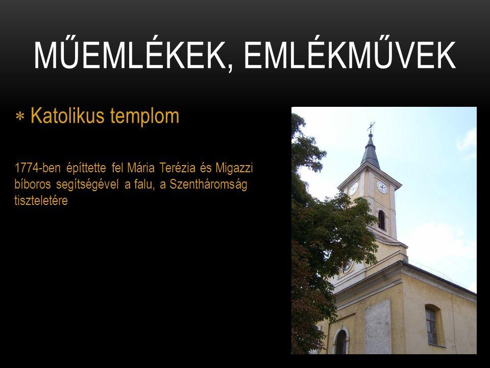Műemlékek, emlékművek Katolikus templom