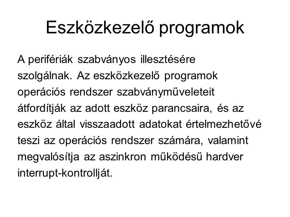 Eszközkezelő programok