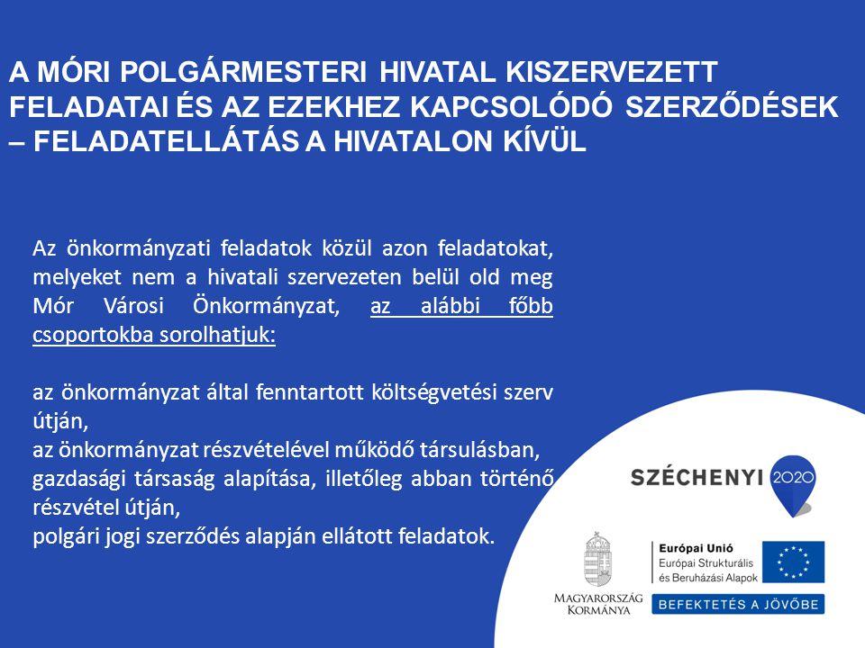 A Móri Polgármesteri Hivatal kiszervezett feladatai és az ezekhez kapcsolódó szerződések – feladatellátás a hivatalon kívül