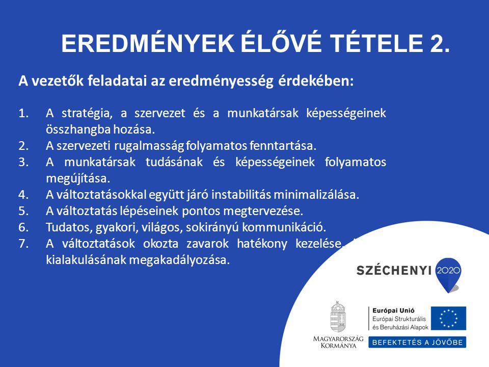 Eredmények élővé tétele 2.