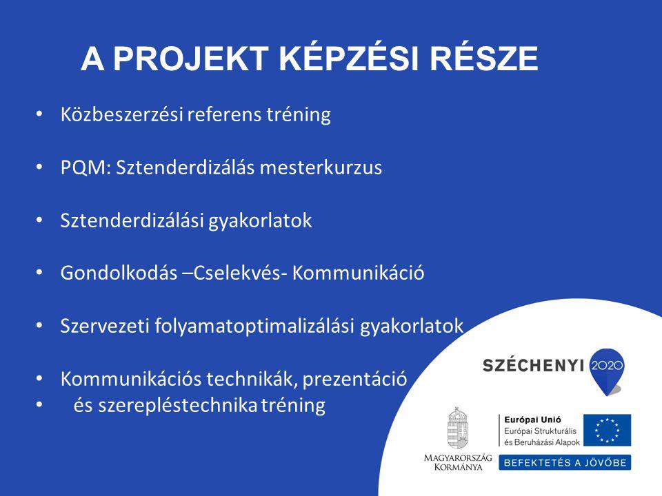 A projekt képzési része