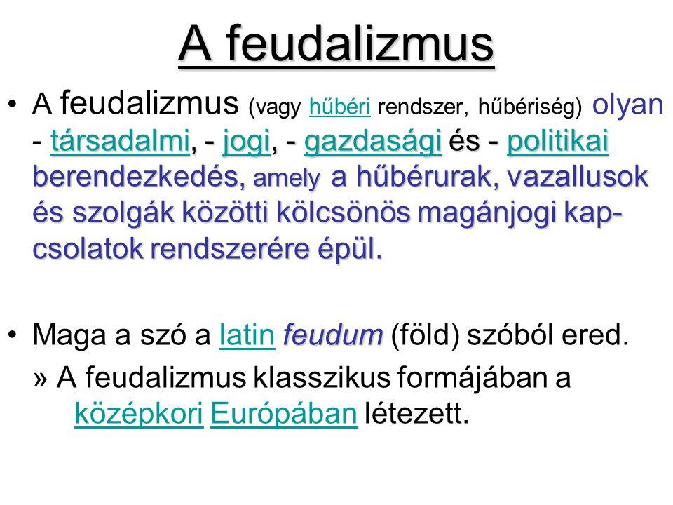 A feudalizmus