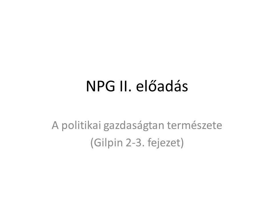 A politikai gazdaságtan természete (Gilpin 2-3. fejezet)