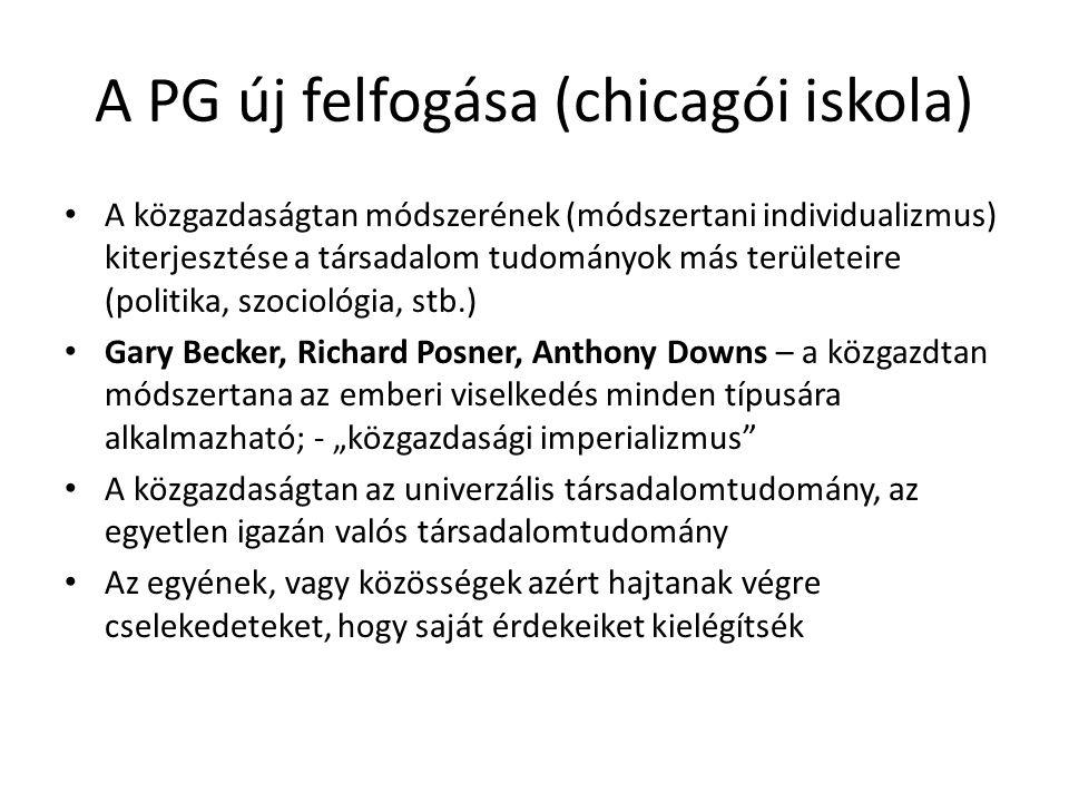 A PG új felfogása (chicagói iskola)