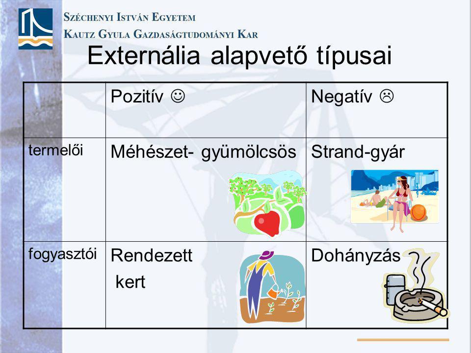 Externália alapvető típusai