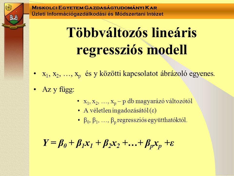 Többváltozós lineáris regressziós modell