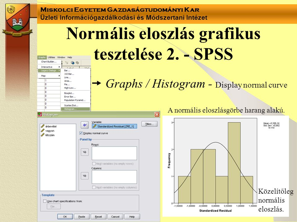 Normális eloszlás grafikus tesztelése 2. - SPSS