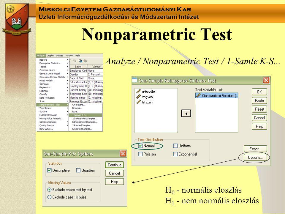 Nonparametric Test Analyze / Nonparametric Test / 1-Samle K-S...