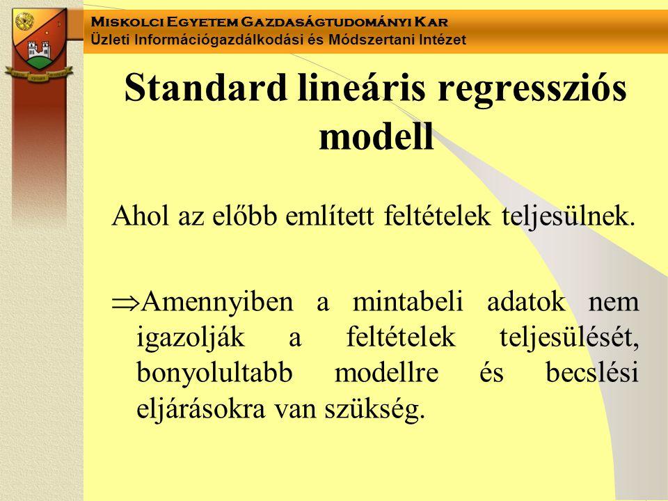 Standard lineáris regressziós modell