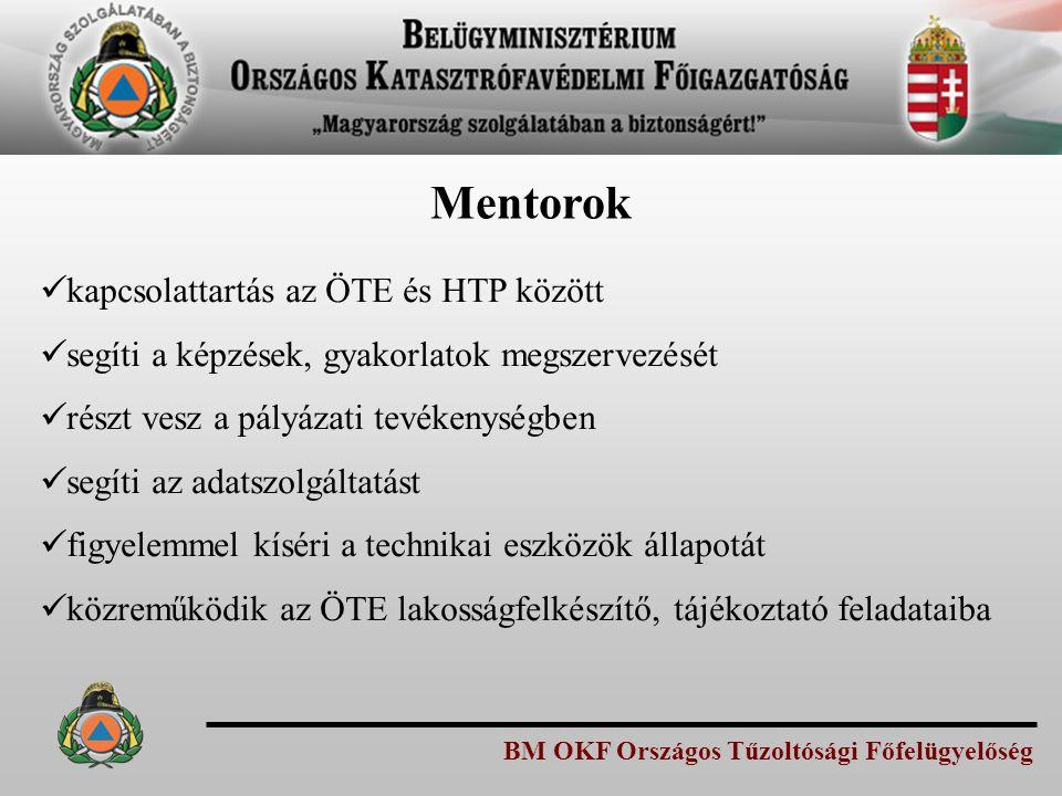 Mentorok kapcsolattartás az ÖTE és HTP között