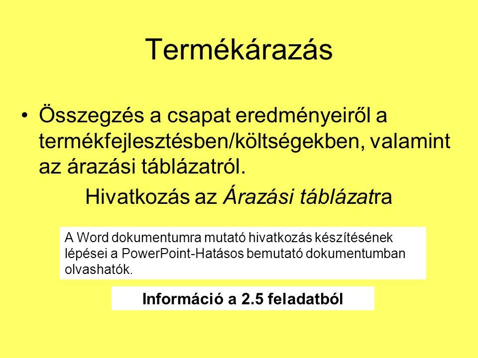 Információ a 2.5 feladatból