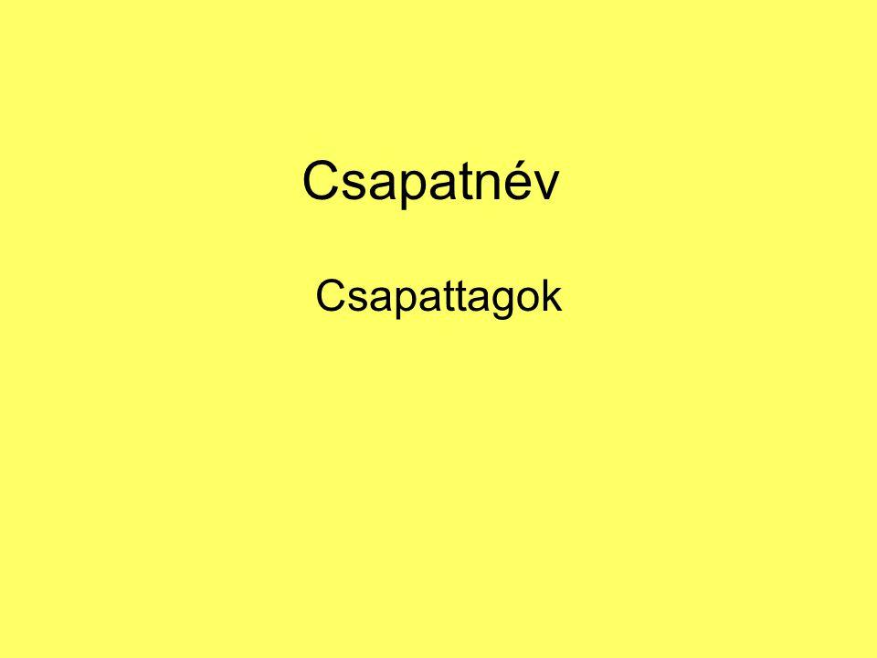 Csapatnév Csapattagok