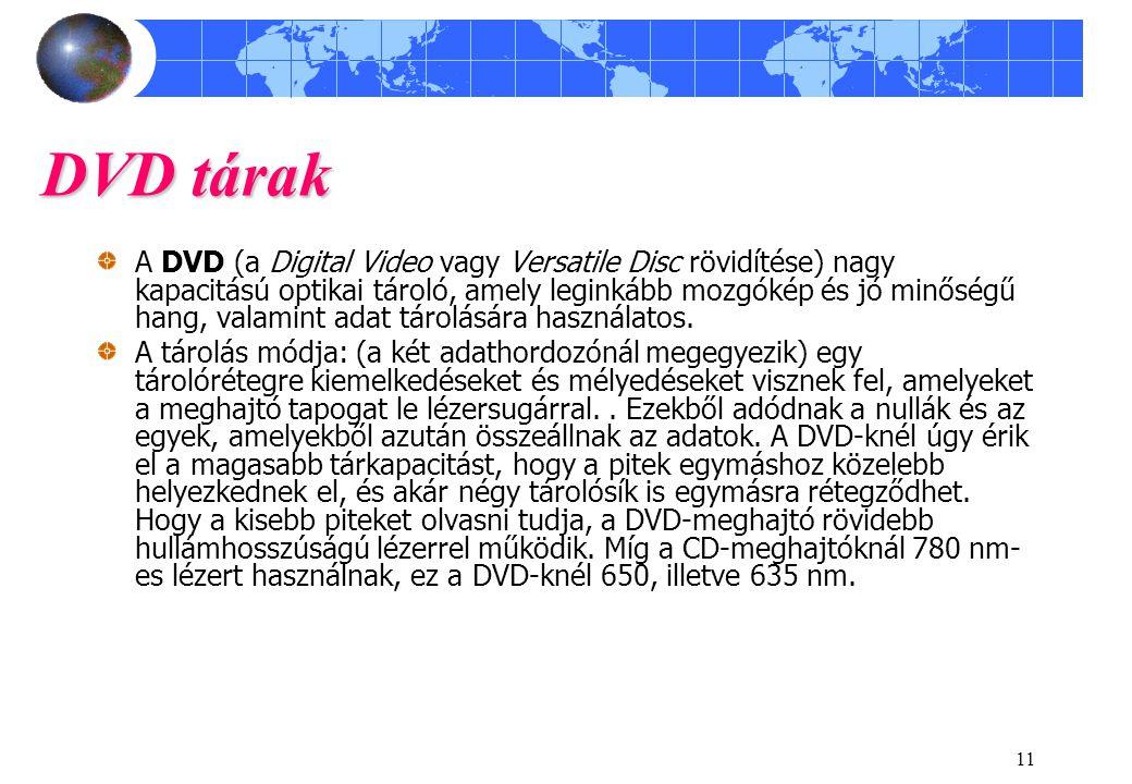 DVD tárak