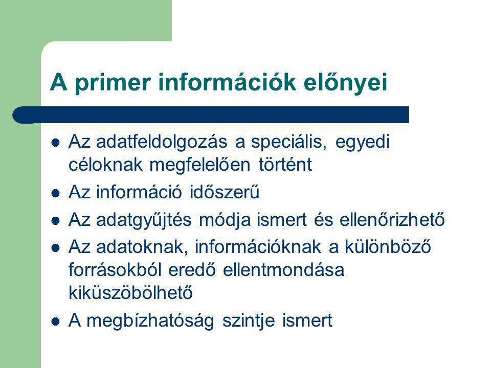 A primer információk előnyei