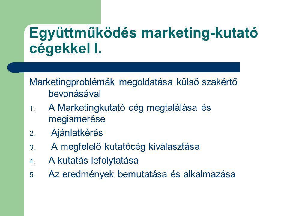 Együttműködés marketing-kutató cégekkel I.