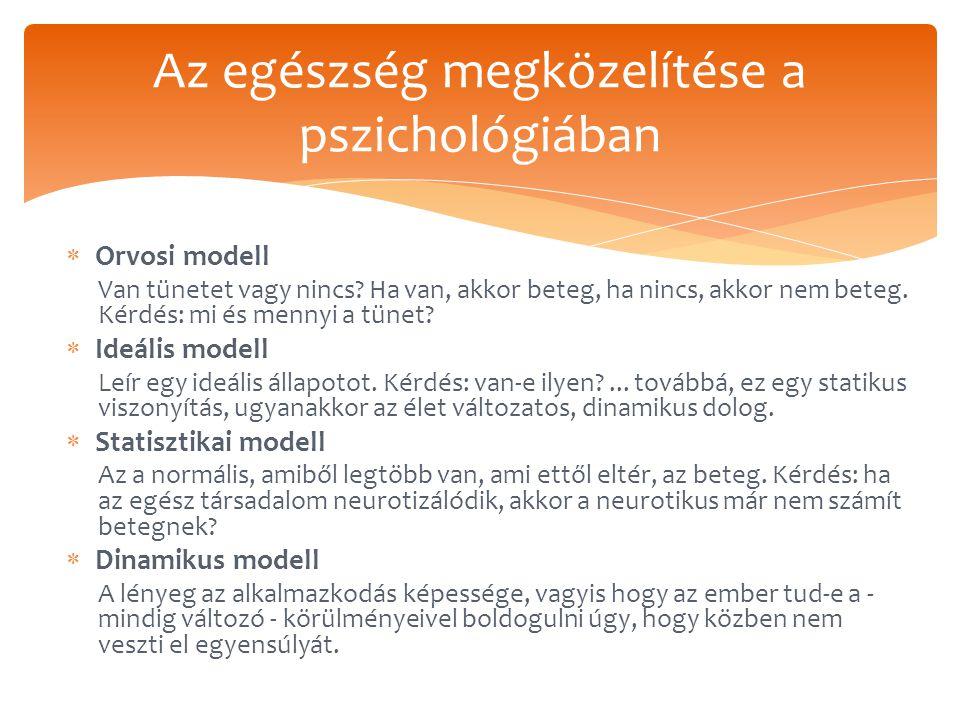 Az egészség megközelítése a pszichológiában