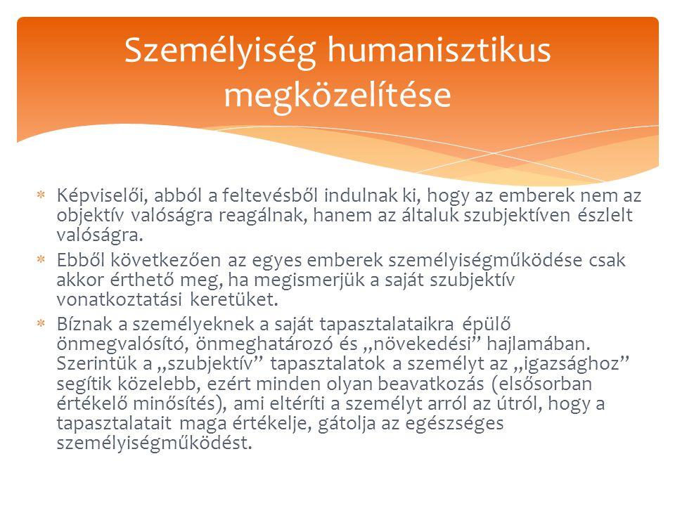 Személyiség humanisztikus megközelítése