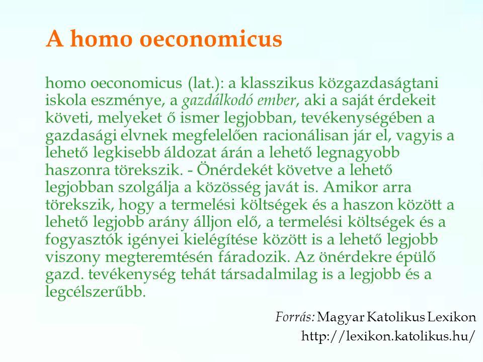 A homo oeconomicus