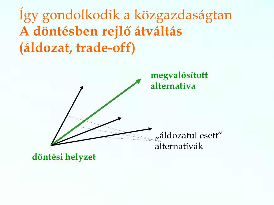 Így gondolkodik a közgazdaságtan A döntésben rejlő átváltás (áldozat, trade-off)