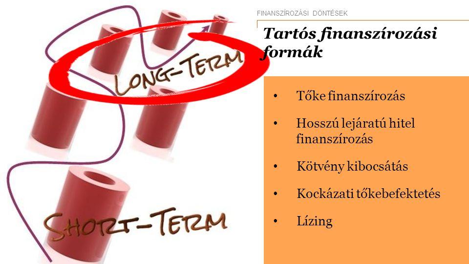 Tartós finanszírozási formák
