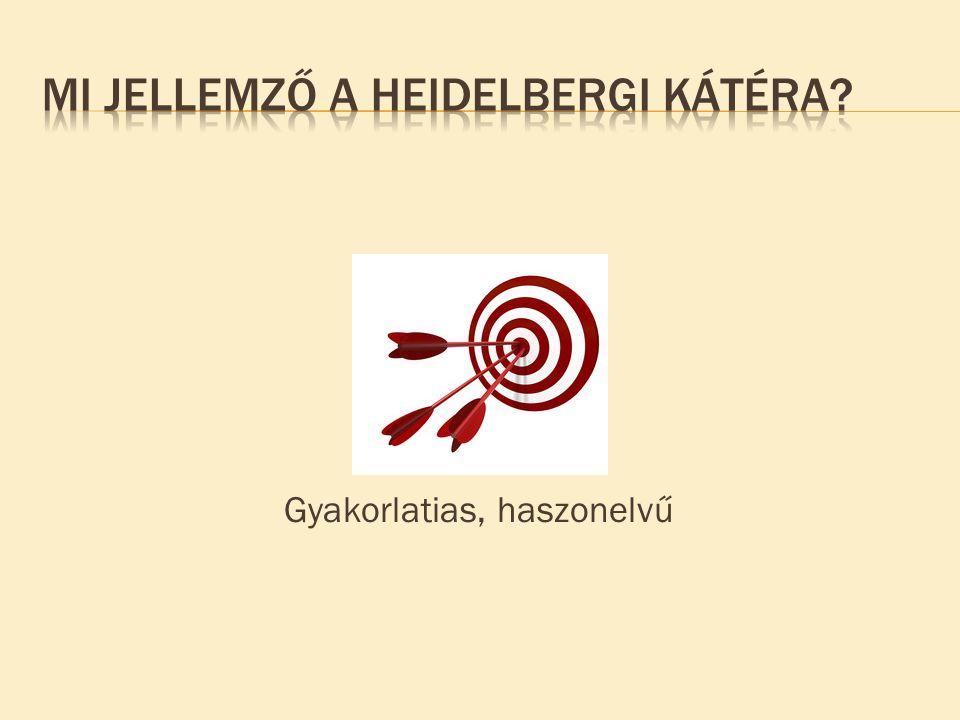 Mi jellemző a heidelbergi Kátéra