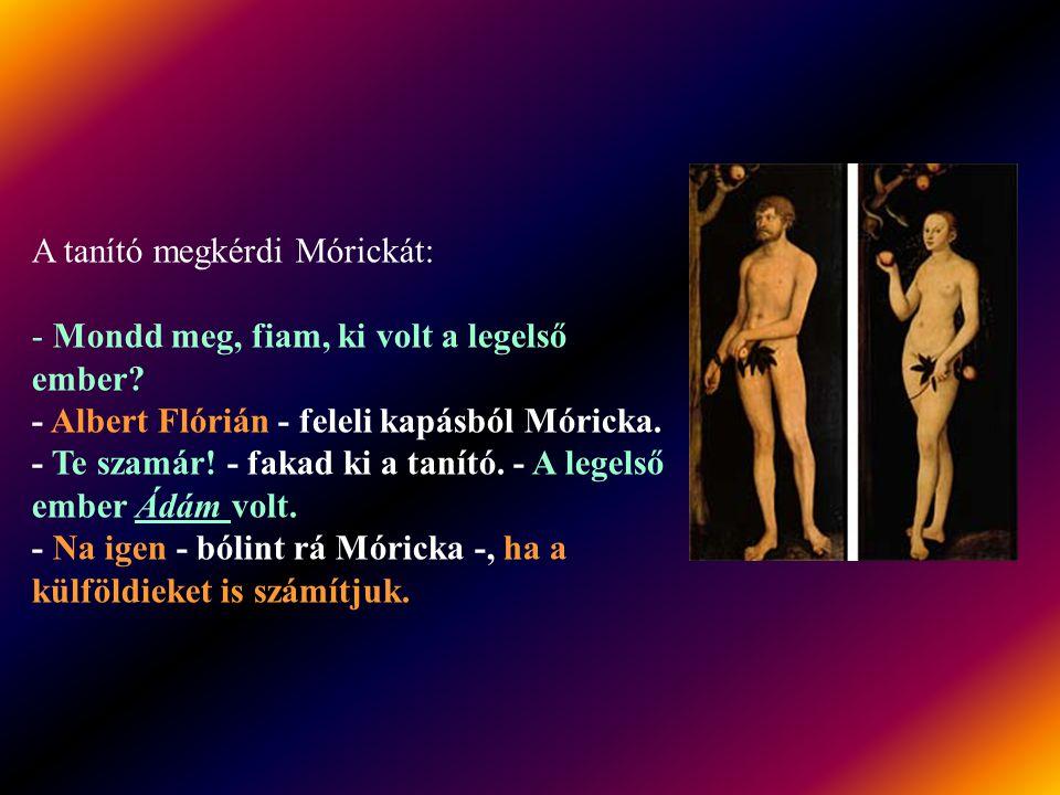 A tanító megkérdi Mórickát: