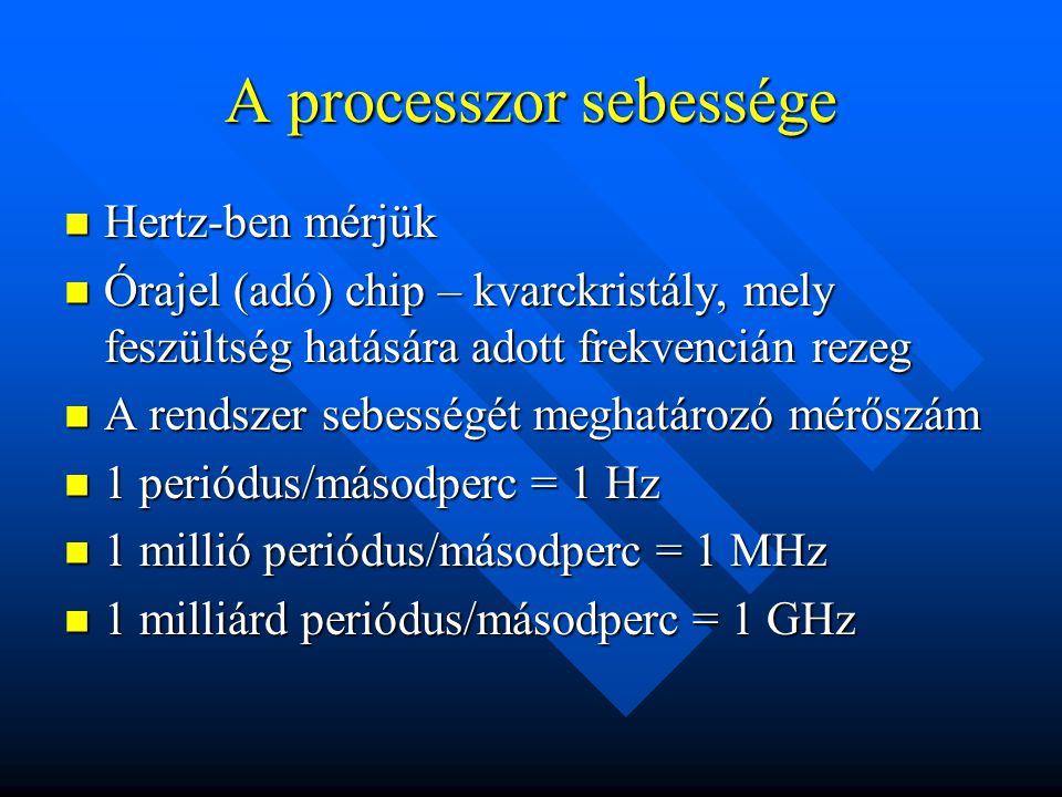 A processzor sebessége