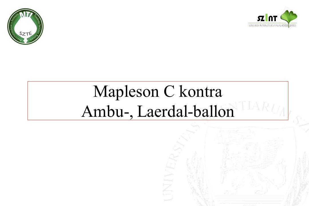 Mapleson C kontra Ambu-, Laerdal-ballon