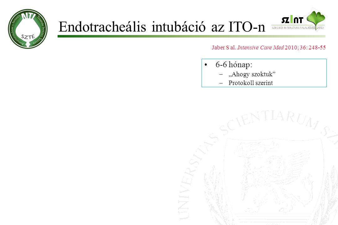 Endotracheális intubáció az ITO-n