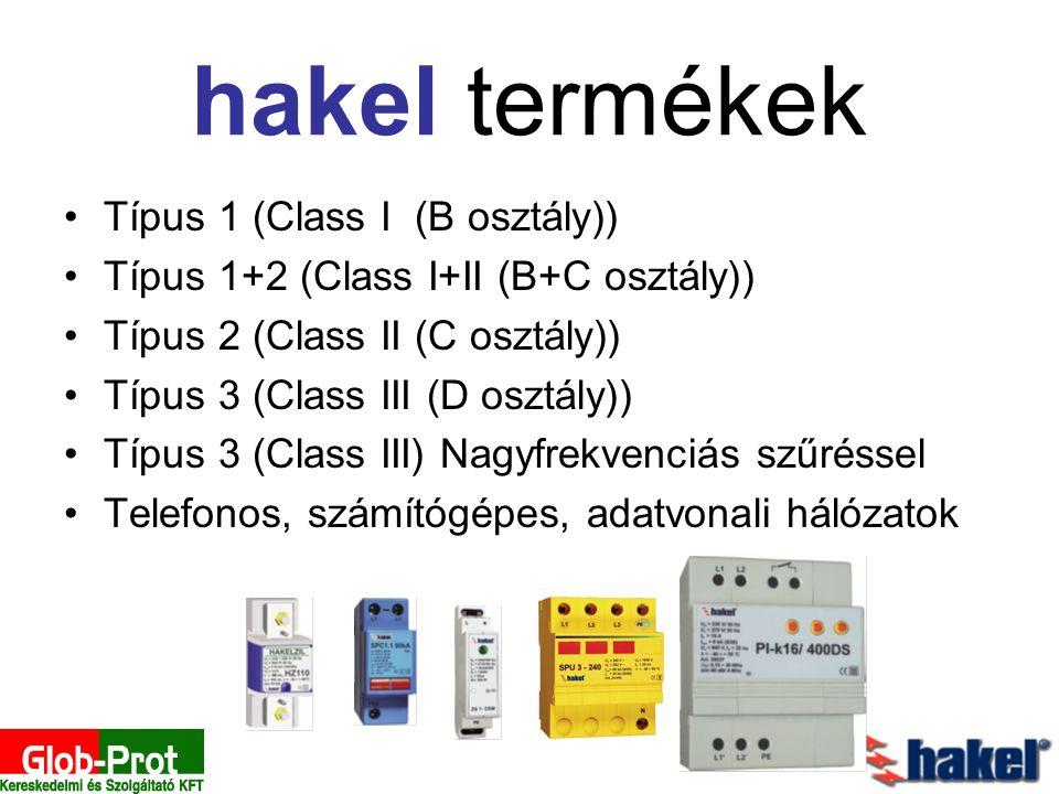 hakel termékek Típus 1 (Class I (B osztály))