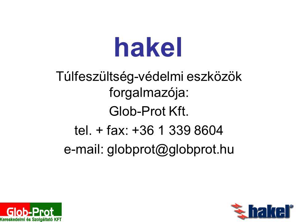 hakel Túlfeszültség-védelmi eszközök forgalmazója: Glob-Prot Kft.
