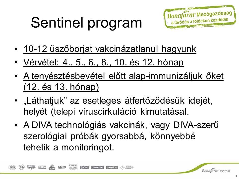 Sentinel program 10-12 üszőborjat vakcinázatlanul hagyunk
