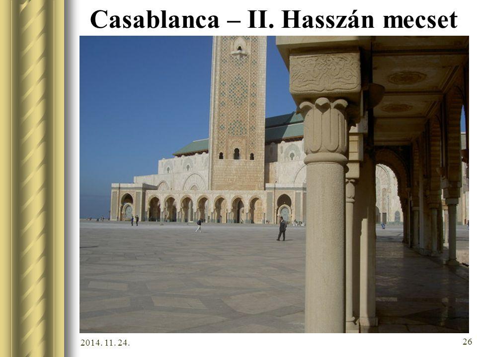 Casablanca – II. Hasszán mecset