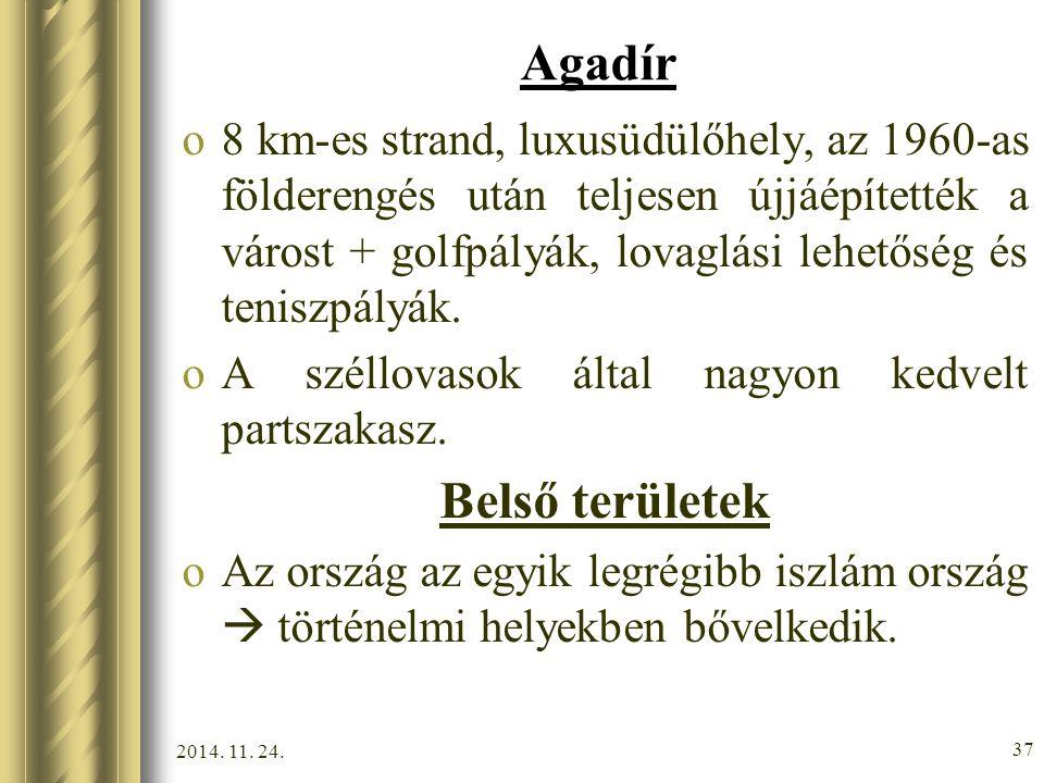 Agadír Belső területek